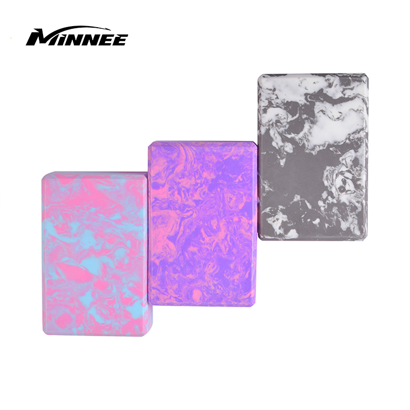 MINNEE Yoga Block (2 Pack), High Density EVA Foam Block To Support And Improve Poses And Flexibility