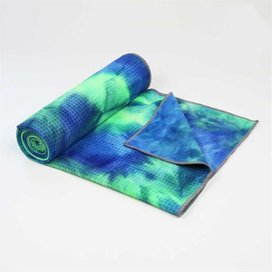 Custom design transfer print microfiber beach yoga towel for outdoor