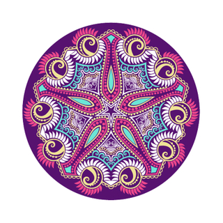 Wholesale Custom Print Rubber Round Yoga Meditation Mat